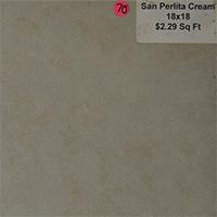 San Perlita Cream 18x18